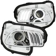 111354 Anzo Headlight Lamp Driver And Passenger Side New Lh Rh For Grand Cherokee