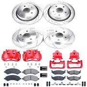 Kc2164a Powerstop Brake Disc And Caliper Kits 4-wheel Set Front And Rear For Dodge