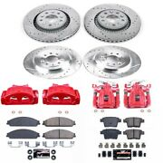 Kc4039a Powerstop 4-wheel Set Brake Disc And Caliper Kits Front And Rear New