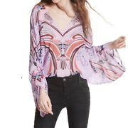 Free People Beneath The Sea Top Size L New Woman Blouse Lilac