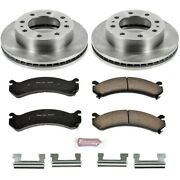 Koe2071 Powerstop Brake Disc And Pad Kits 2-wheel Set Front New For Chevy Savana