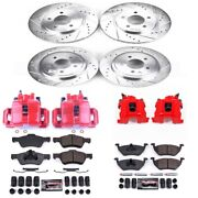 Kc4024a Powerstop Brake Disc And Caliper Kits 4-wheel Set Front And Rear For Ford