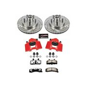 Kc1991-36 Powerstop 2-wheel Set Brake Disc And Caliper Kits Front For Chevy