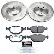 K5118-26 Powerstop Brake Disc And Pad Kits 2-wheel Set Front New For Mercedes