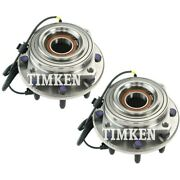 Set-tmha590435 Timken Set Of 2 Wheel Hubs Front Driver And Passenger Side New Pair