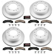 Crk5561 Powerstop Brake Disc And Pad Kits 4-wheel Set Front And Rear New For Chevy