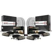 Crk5575 Powerstop Brake Disc And Pad Kits 4-wheel Set Front And Rear New For Ford