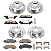 K2010-36 Powerstop 4-wheel Set Brake Disc And Pad Kits Front And Rear New For Gmc