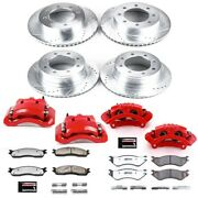 Kc5468-36 Powerstop Brake Disc And Caliper Kits 4-wheel Set Front And Rear