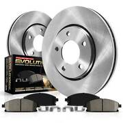 Koe408 Powerstop Brake Disc And Pad Kits 2-wheel Set Rear New For Civic Coupe