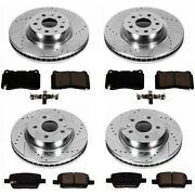 K4394 Powerstop 4-wheel Set Brake Disc And Pad Kits Front And Rear New For Dodge