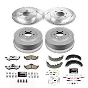 K15164dk-36 Powerstop Brake Disc And Drum Kits 4-wheel Set Front And Rear New