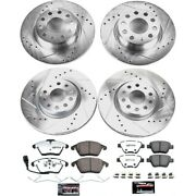 K5801-26 Powerstop 4-wheel Set Brake Disc And Pad Kits Front And Rear New For Vw