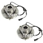Set-tmha590515-2 Timken Wheel Hubs Set Of 2 Front Driver And Passenger Side Pair
