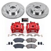 Kc5969 Powerstop 2-wheel Set Brake Disc And Caliper Kits Front New For Fiesta