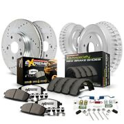 K15238dk-36 Powerstop 4-wheel Set Brake Disc And Drum Kits Front And Rear New