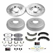 K15115dk-36 Powerstop 4-wheel Set Brake Disc And Drum Kits Front And Rear New