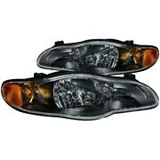 121165 Anzo Headlight Lamp Driver And Passenger Side New For Chevy Coupe Lh Rh