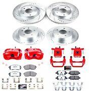 Kc6095-26 Powerstop Brake Disc And Caliper Kits 4-wheel Set Front And Rear New