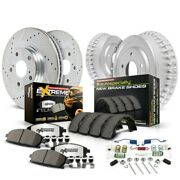 K15004dk-36 Powerstop 4-wheel Set Brake Disc And Drum Kits Front And Rear New
