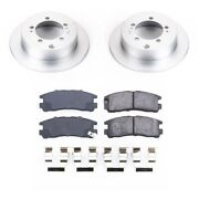 Crk1203 Powerstop Brake Disc And Pad Kits 2-wheel Set Rear New Coupe For Eclipse