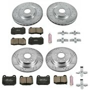 K4488 Powerstop 4-wheel Set Brake Disc And Pad Kits Front And Rear New For G35