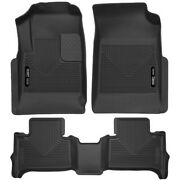 Set-h2153121 Husky Liners Floor Mats Front New Black For Chevy Colorado Canyon