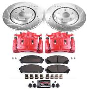 Kc4713a Powerstop 2-wheel Set Brake Disc And Caliper Kits Front New For Sienna