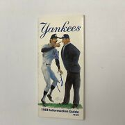 Billy Martin Hand Signed On Cover 1983 New York Yankees Information Guide