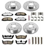 K1868-36 Powerstop Brake Disc And Pad Kits 4-wheel Set Front And Rear New For Ford
