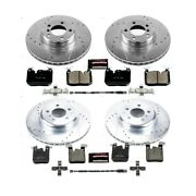 K7547 Powerstop Brake Disc And Pad Kits 4-wheel Set Front And Rear New For 328 330