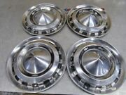 Set 1956 Chevy Bel Air Vintage Oem 15andrdquo Hubcap Wheel Covers St35