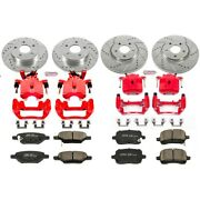 Kc1612a Powerstop Brake Disc And Caliper Kits 4-wheel Set Front And Rear For Chevy