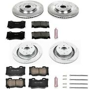 K4138 Powerstop Brake Disc And Pad Kits 4-wheel Set Front And Rear New For 350z 09