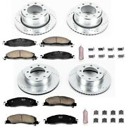 K5458 Powerstop Brake Disc And Pad Kits 4-wheel Set Front And Rear New For Dodge