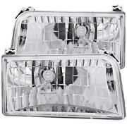 111247 Anzo Headlight Lamp Driver And Passenger Side New For Truck F150 F250 F350