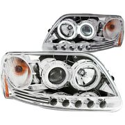 111054 Anzo Headlight Lamp Driver And Passenger Side New For F150 Truck F250 Lh Rh