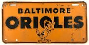 1954 Baltimore Orioles Inaugural Year Metal License Plate Full Size Tough