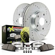 K2259-26 Powerstop Brake Disc And Pad Kits 2-wheel Set Front New For Vw Beetle