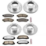 K5574-36 Powerstop 4-wheel Set Brake Disc And Pad Kits Front And Rear New For Ford
