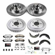 K15151dk-36 Powerstop Brake Disc And Drum Kits 4-wheel Set Front And Rear New