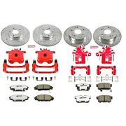 Kc2440-26 Powerstop 4-wheel Set Brake Disc And Caliper Kits Front And Rear Coupe