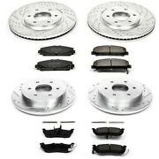 K2805 Powerstop 4-wheel Set Brake Disc And Pad Kits Front And Rear New For Titan