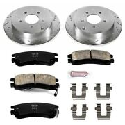 K5135 Powerstop Brake Disc And Pad Kits 2-wheel Set Rear New For Chevy Olds