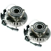 Set-tmsp550200 Timken Set Of 2 Wheel Hubs Front Driver And Passenger Side New Pair