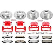 Kc2015-36 Powerstop 4-wheel Set Brake Disc And Caliper Kits Front And Rear For Gmc