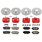 Kc2727 Powerstop 4-wheel Set Brake Disc And Caliper Kits Front And Rear For Rx-8