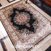 4and039x6and039 Antique Handmade Home Decor Silk Area Rug Floor Handknotted Area Carpets