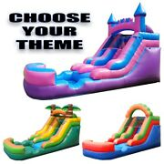 12and039h Pogo Kids Premium Inflatable Water Slide With Built-in Pool And Free Blower