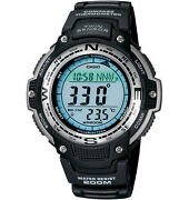 Casio Sgw100-1v Twin Sensor Watch Thermometer Compass Chronograph 5 Alarms